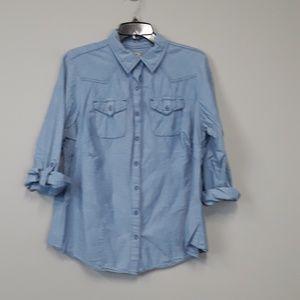 Ruff Hewn women plus chambray button down shirt